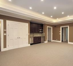 Basement Renovations with Lighting