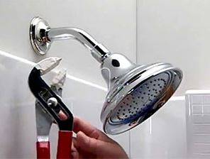 Adjusting the pressure in the shower head
